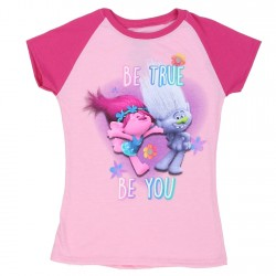 Dreamworks Trolls Be True Be You Pink Short Sleeve Shirt