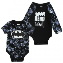 DC Comics Batman Black Hero 2 Pack Onesie Set At Space City Kids Clothing