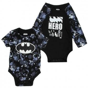 DC Comics Batman Black Hero 2 Pack Onesie Set At Space City Kids Clothing