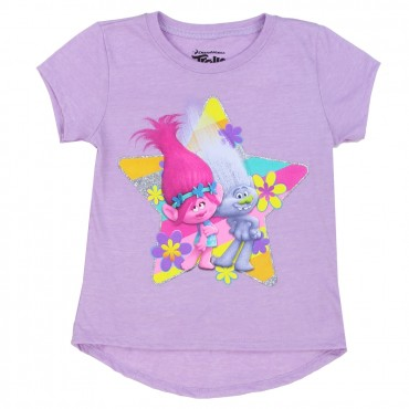 Dreamworks Trolls Lavender Character Girls Shirt At Space City Kids Clothing Girls Shirt