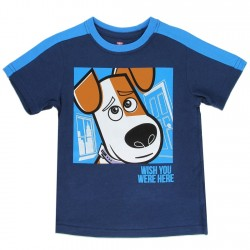 Universal Secret Life Of Pets Wish You Were Here Blue Toddler Boys Shirt