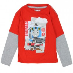 Thomas and Friends Red Thomas Long Sleeve Shirt Space City Kids Clothing Store