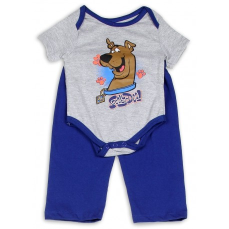 Scooby Doo Grey Onesie and Blue Pants For Baby and Infants
