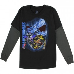 Transformers Bumbee Black Long Sleeve Shirt At Space City Kids Clothing Boys Clothing