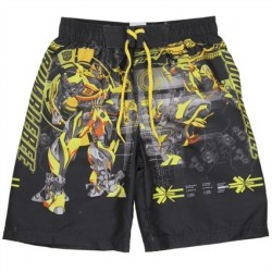 Transformers Bumblebee Black Boys Swim Shorts