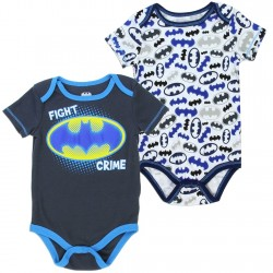 DC Comics Batman Fight Crime Charcaol and White Onesie Set