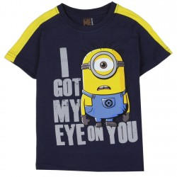 Universal Despicable Me Minions Rock Boys Navy Blue T Shirt Space City Kids Clothing