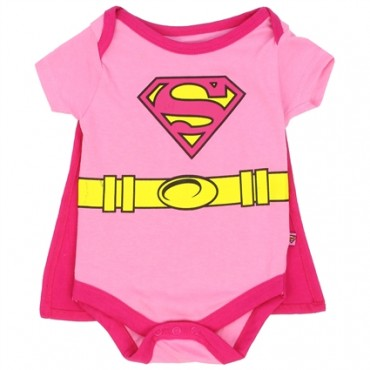 Supergirl Pink Creeper With Detachable Cape At Space City Kids Clothing Baby Clothes