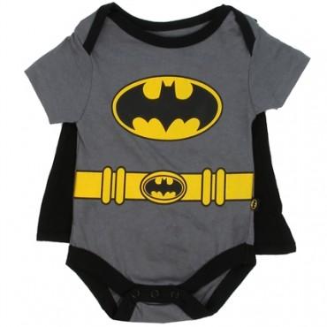 DC Comics Batman Grey Creeper With Black Detachable Cape At space City Kids Clothing Baby clothes