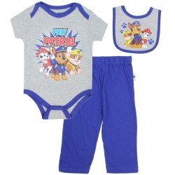 Nick Jr Paw Patrol Chase Marshall and Rubble 3 Piece Set Space City Kids Clothing