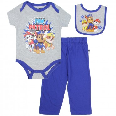 Nick Jr Paw Patrol Chase Marshall and Rubble 3 Piece Set At Space City Kids Clothing