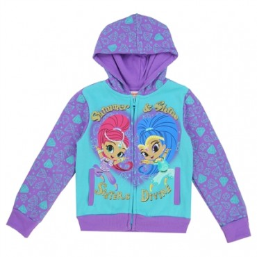 Nick Jr Shimmer And Shine Sisters Devine Purple Zippered Hoodie At Space City Kids Clothing