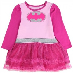 DC Comics Batgirl Pink Tutu Dress With Matching Cape