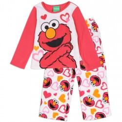 Sesame Street Elmo Girls 2 Piece Fleece Pajama Set