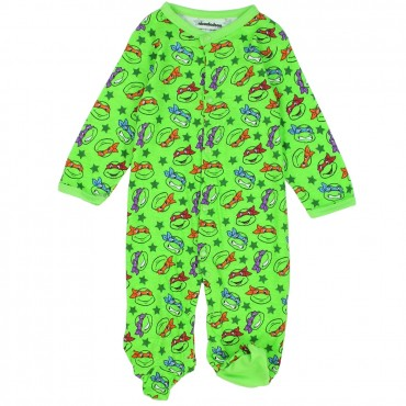 Nick Jr Teenage Mutant Ninja Turtles Green Footed Sleeper Space City Kids Clothing Baby Clothes
