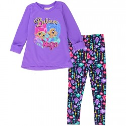 Nick Jr Shimmer And Shine Purple Believe In Magic 2 Piece Set
