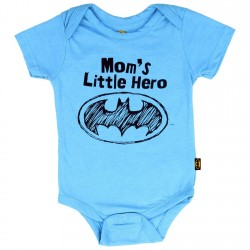 DC Comics Batman Mom's Little Hero Blue Onesie
