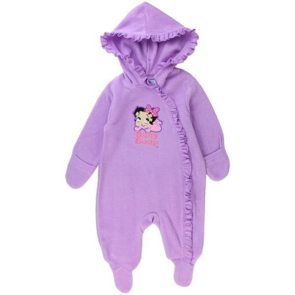 65b2c4eaaf Betty Boop Baby Boop Lavender Lightweight Polar Fleece Pram With Lavender  Ruffled Fringe At Space City. Loading zoom