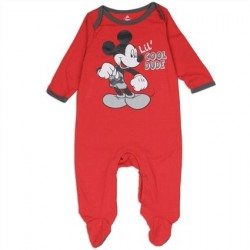 Disney Mickey Mouse Lil Cool Dude Red Footed Boys Sleeper