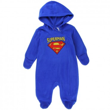Superman Lightweight Blue Polar Fleece Pram At Space City Kids Clothing Baby Sleepwear