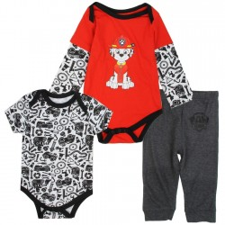 Nick Jr Paw Patrol Marshall 3 Piece Onesie And Pants Set