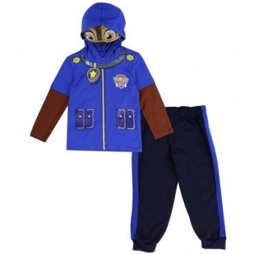 Nick Jr Paw Patrol Marshall Long Sleeve Hooded Mask Top With Fleece Pants At Space City Kids Clothing
