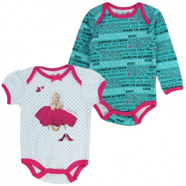 Marilyn Monroe Born To Wear Diamonds 2 Pack Onesie Set At Space City Kids Clothing