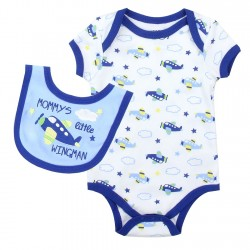 Weeplay Mommy's Little Wingman Onesie With Matching Bib Space City Kids Clothing Store