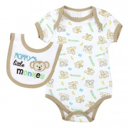 Weeplay Mommy's Little Monkey Onesie With Matching Bib