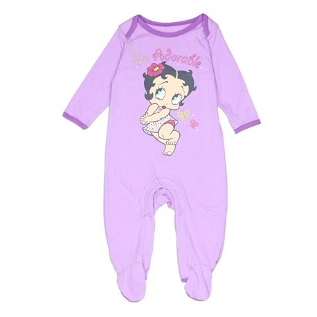 Betty Boop Baby Boop So Adorable Light Purple Footed Sleeper