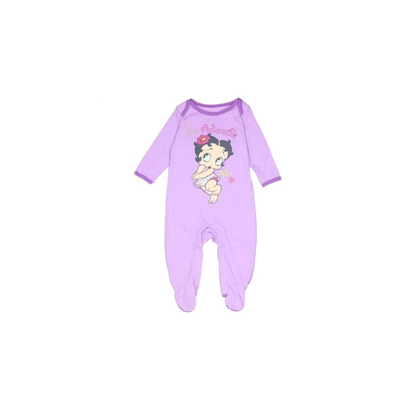 a0bcd6bb65 Betty Boop Baby Boop So Adorable Light Purple Footed Sleeper. Loading zoom