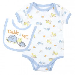 Weeplay Daddy And Me Onesie With Matching Bib