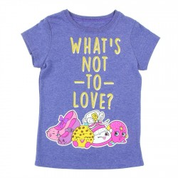 Shopkins What's Not To Love Heather Navy Short Sleeve Shirt
