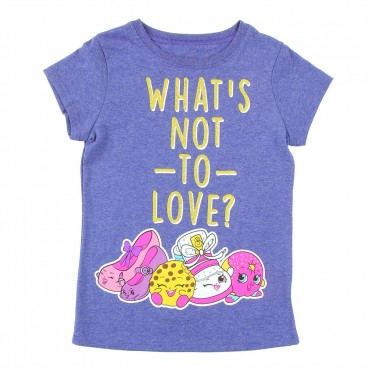 Shopkins What's Not To Love Heather Navy Short Sleeve Shirt At Space City Kids Clothing Store