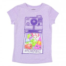 Shopkins Picture Perfect Lavender Short Sleeve Shirt