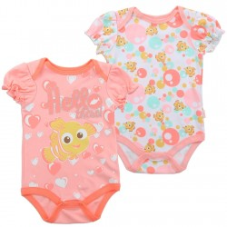 Disney Finding Dory Hello There coral 2 Piece Onesie Set At Space City Kids Fashion Clothing