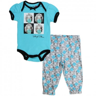 Marilyn Monroe Blue Onesie And White Pants Set At Space City Kids Clothing