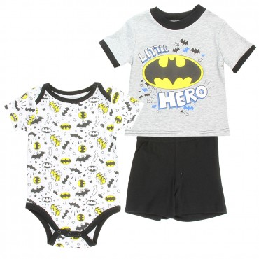 DC Comics Baby Batman Little Hero Tee Shirt Onesie And Shorts At Space City Kids Clothing Store
