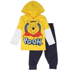 Disney Winnie The Pooh Fleece Pants With Jersey Hooded Top