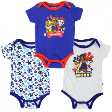 Nick Jr Paw Patrol Pawferct Team Blue And Grey Onesie Set with Chase Marshall Rubble At Space City Kids Clothing