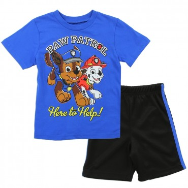 Nick Jr Paw Patrol Were To Help Chase And Marshall Toddler Boys Short Set At Space City Kids Clothing