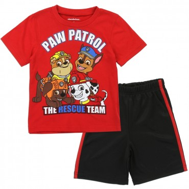 Nick Jr Paw Patrol The Rescue Team Toddler Boys Short Set At Space City Kids Clothing
