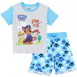 Nick Jr Paw Patrol Blue Paw Print Toddler Boys Short Set Space City Kids Clothing