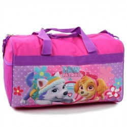 Nick Jr Paw Patrol Everest And Skye Pink Girls Duffel Bag With Adjustable Straps At Space City Kids Clothing