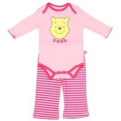 Disney Winnie The Pooh Pink 2 Piece Long Sleeve Onesie And Pants Set Space City Kids Clothing
