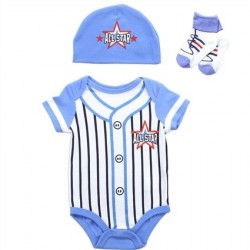Buster Brown Allstar Baseball Pin Stripe Uniform 3 Piece Layette Set At Space City Kids Clothing