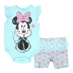 Disney Minnie Mouse Blue Onesie With Grey Short With Tutu