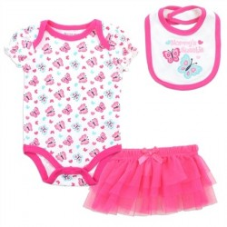 Buster Brown Mommy's Sweetie 3 Piece Layette Set Space City Kids Clothing Store