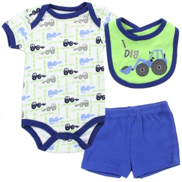 Buster Brown I Dig The Dirt Tractor Infant Boys 3 Piece Outfit Space City Kids Clothing Store