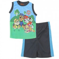 Nick Jr Paw Patrol Boys Tank Top 2 Piece Sublimation Short Set